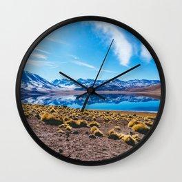 Laguna Miñiques, San Pedro de Atacama Desert, Chile Wall Clock