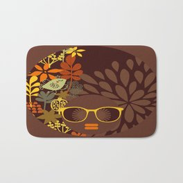 Afro Diva : Sophisticated Lady Retro Brown Bath Mat
