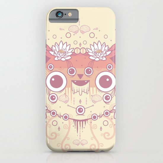 Cat flowers iPhone & iPod Case