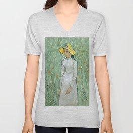 Vincent van Gogh - Portrait Unisex V-Neck