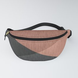 Black , brown ,abstract , geometric Fanny Pack