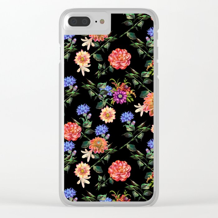 Secret Winter Garden Clear iPhone Case