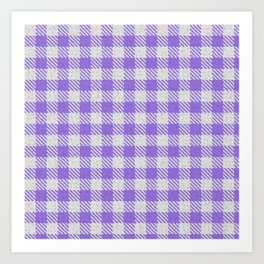Medium Purple Buffalo Plaid Art Print