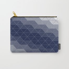 Indigo Navy Blue Triangles Carry-All Pouch