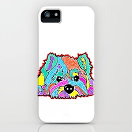 Cotton Candy Dots Westie West Highland Dog Pet Terrier Scottish Scotland Cairn Border Glen Fox Kerry iPhone Case