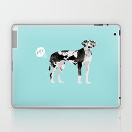 great dane funny farting dog breed gifts Laptop & iPad Skin