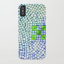 artisan 22.06.16 in lime & shades of blue iPhone Case