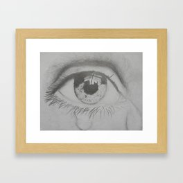 Crying eye Framed Art Print
