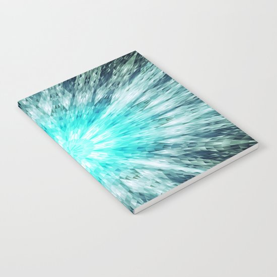 Teal Blue Mandala Notebook