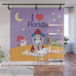 Ernest and Coraline | I love Florida Wall Mural