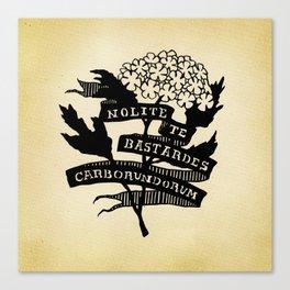 Handmaid's Tale - NOLITE TE BASTARDES CARBORUNDORUM Canvas Print