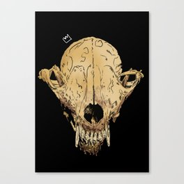 Skull Portrait Canvas Print