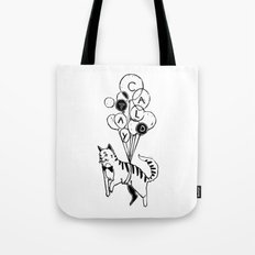 Cat Lady (Black and White) Tote Bag