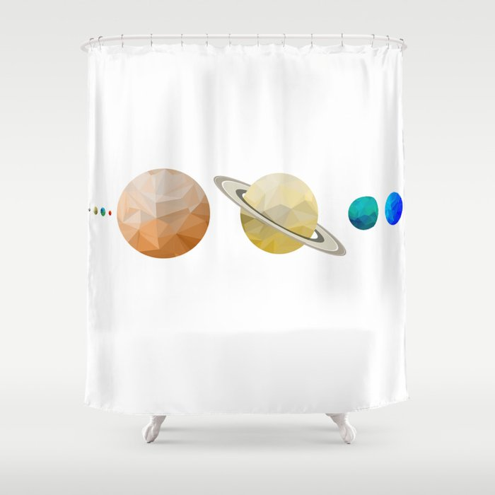 Planets Of The Solar System Shower Curtain By Victorvelocity