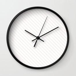 Blushing Bride Stripe Wall Clock
