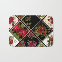 Floral folk patchwork. Ethnic Bath Mat