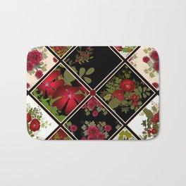 Floral folk patchwork. Ethnic Bath Mat
