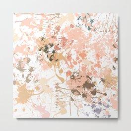 Skin Tones - Liquid Makeup Foundation - on White Metal Print