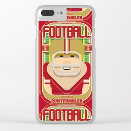 American Football Red and Gold - Enzone Puntfumbler - Sven version Clear iPhone Case