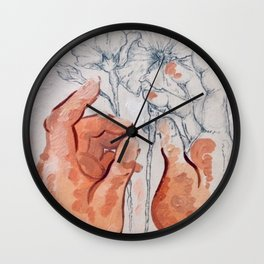 À fleur de peau Wall Clock