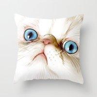 kirby Throw Pillows featuring Kirby Littledumdums by EggsBFF