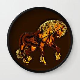 HORSES-Golden Palomino Wall Clock