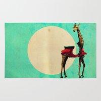 giraffe Area & Throw Rugs featuring Giraffe by Ali GULEC
