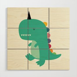 Dinocorn Wood Wall Art