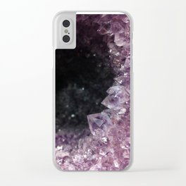Geode Cave Clear iPhone Case