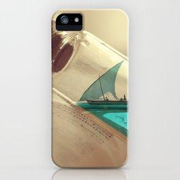 Boat in a bottle iPhone Case