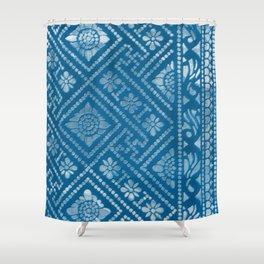 Blue Burnout Two Shower Curtain