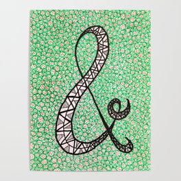 Green Ampersand Poster