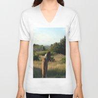 pony V-neck T-shirts featuring pony by catrinaevans