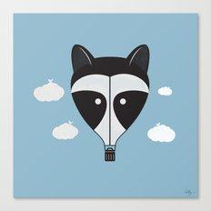 Hot Air Raccoon Canvas Print