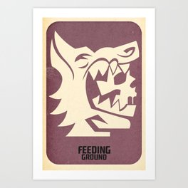 FEEDING GROUND Wolf's Clothing Art Print