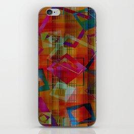 Topsy Turvy Squares iPhone Skin