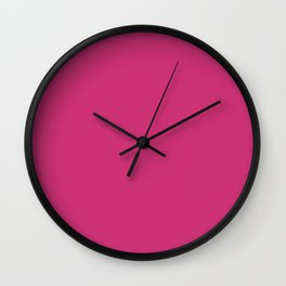 Trendy Basics - Trend Color PINK YARROW Wall Clock