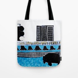 A ride in the city Tote Bag