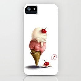 Ice-Cream, Oops! iPhone Case