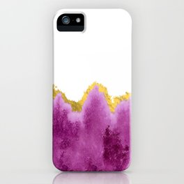 Ombre Watercolor with Gold iPhone Case
