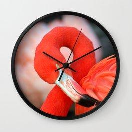 Flamingo20150301 Wall Clock