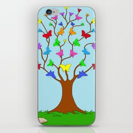 The Butterfly Tree iPhone Skin