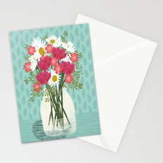 Vase of Daisies floral flowers spring summer mother's day illustration Andrea Lauren  Stationery Cards