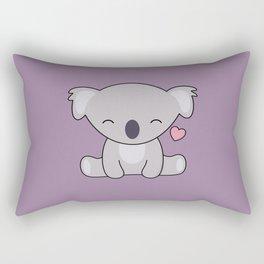 Kawaii Cute Koala Bear With Heart Rectangular Pillow