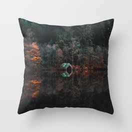 Serene Wilderness Lakeside Nature Photography Throw Pillow