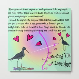 Sending You A Love Shot Metal Print