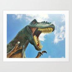 T-Rex Roar Art Print
