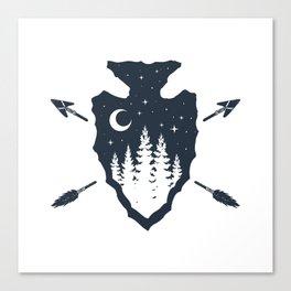 Arrowhead. Double Exposure Canvas Print