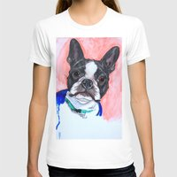 boston terrier T-shirts featuring Boston Terrier by A.M.