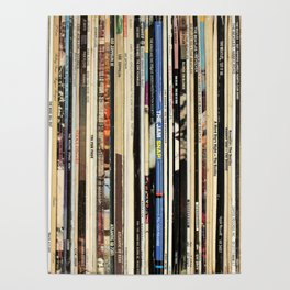 Classic Rock Vinyl Records Poster